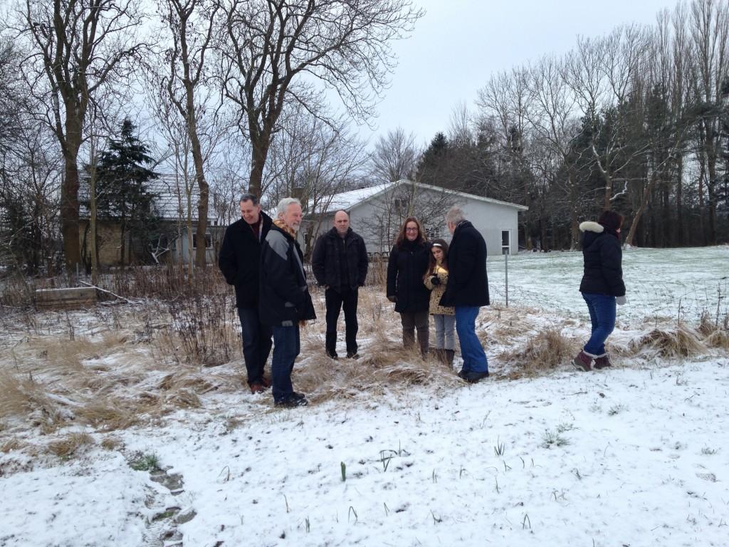 En lille flok kiggede arealerne an ved informationsmødet den 13. februar
